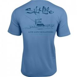 Salt life caballeros camisetas tacticas mangas cortas
