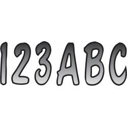 Numeros y letras para botes